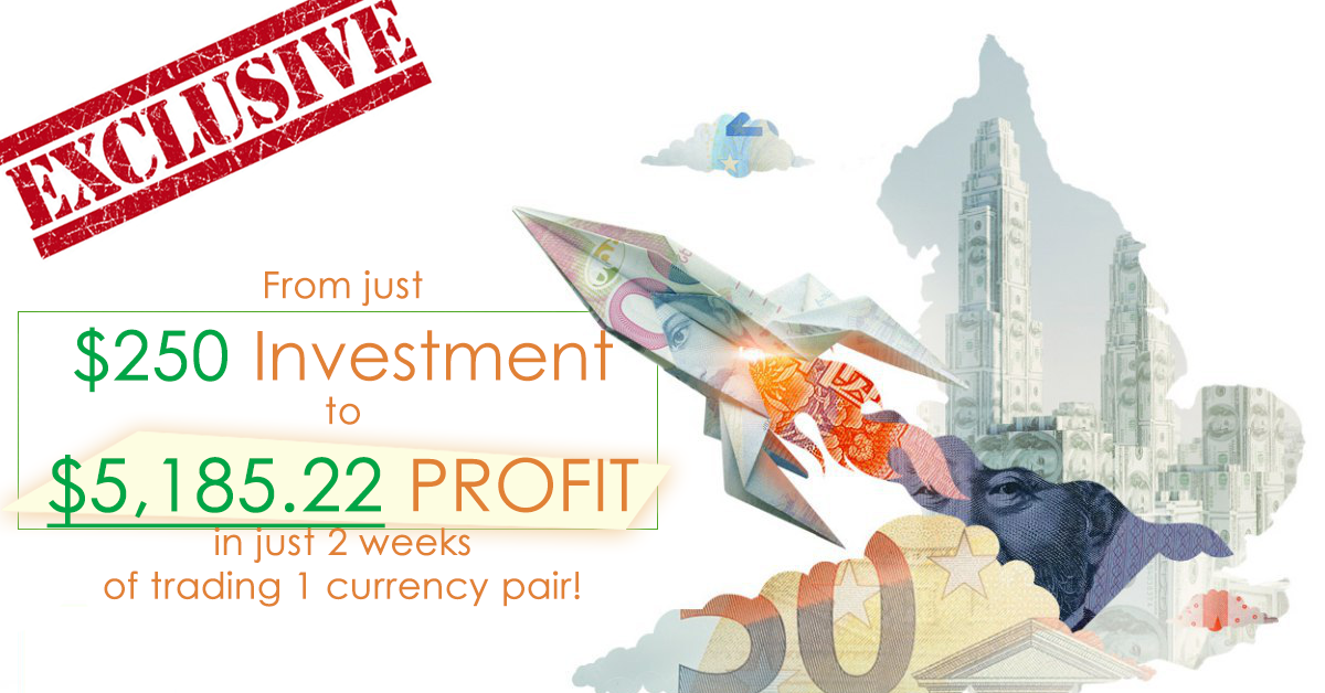 From $250 Investment to $5,185.22 profit in just 2 weeks of trading 1 currency pair!